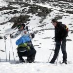 raquetas de nieve en picos de europa