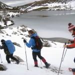 raquetas de nieve en los lagos, asturias