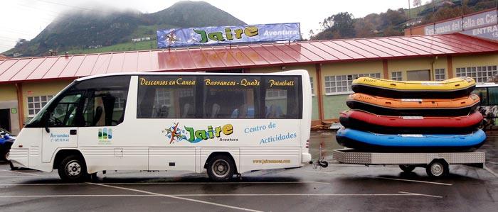 rafting en asturias bus