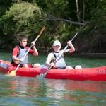 descenso del rio sella en canoa
